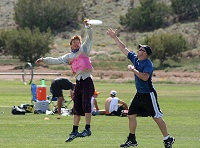 Two Men Playing Ultimate Frisbee