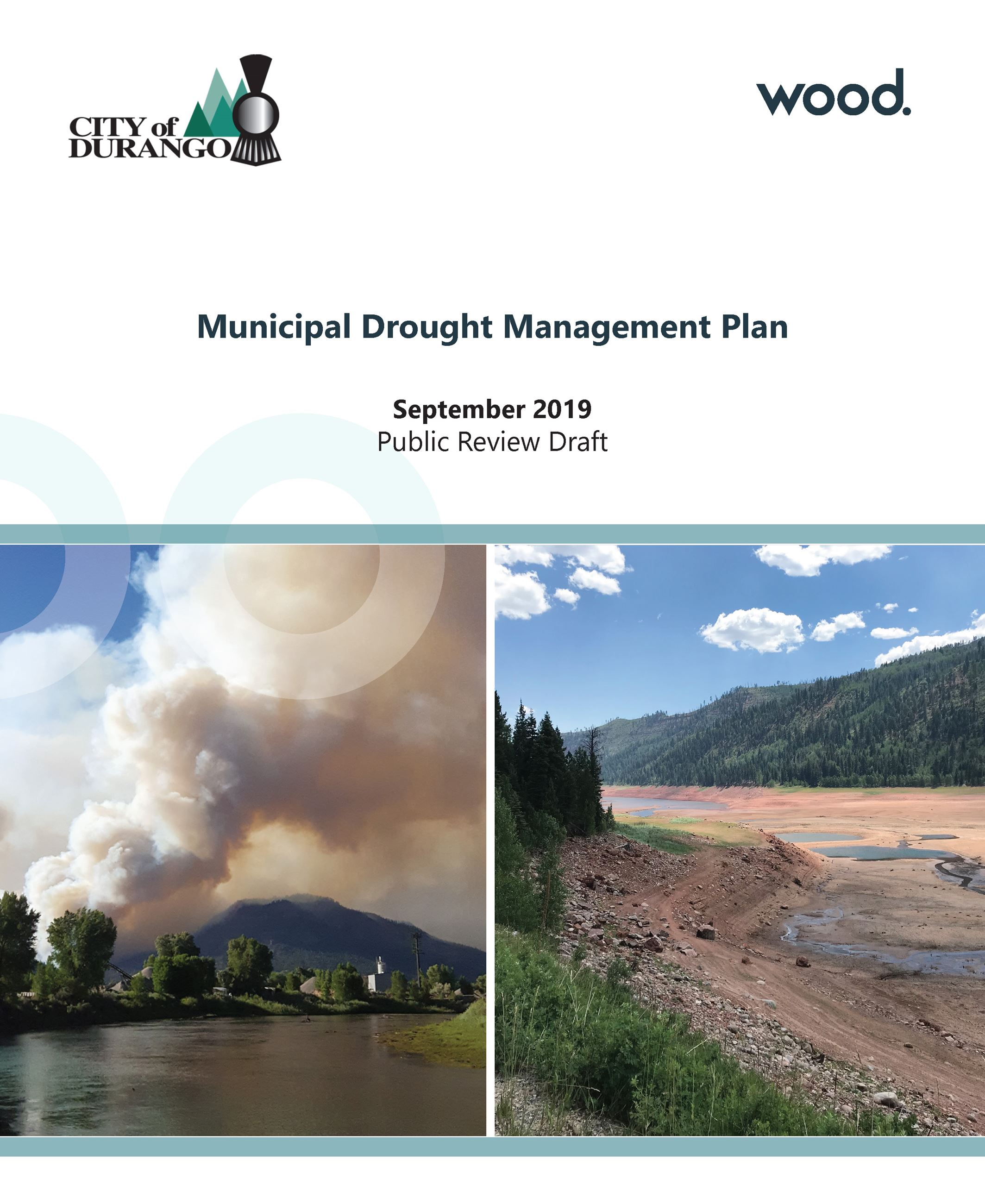 Municipal Drought Management Plan Cover Page