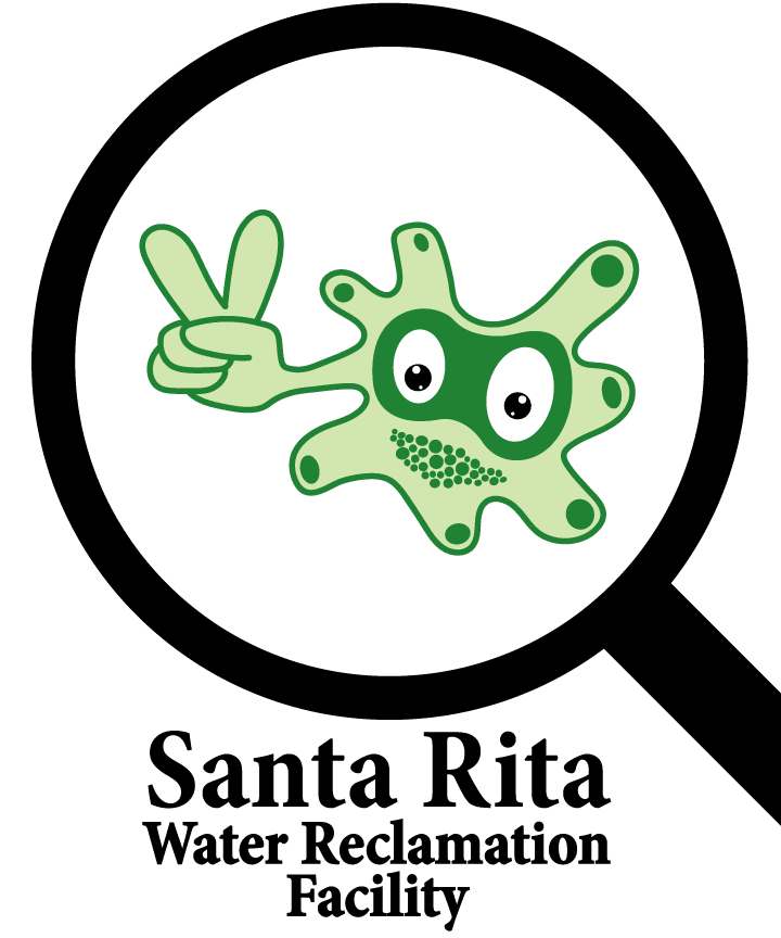 Rita the Amoeba - Santa Rita Water Reclamation Facility Logo