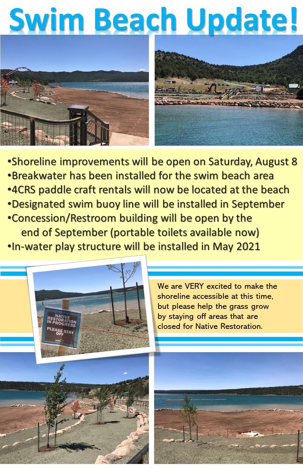 Swim Beach Update 8-6-2020